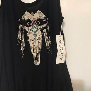 WILDFOX Skull & Feathers Tunic Dress